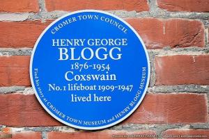 English Heritage Blue Plaque for Henry Blogg